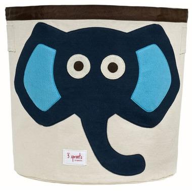 Kosz na zabawki Słoń niebieski