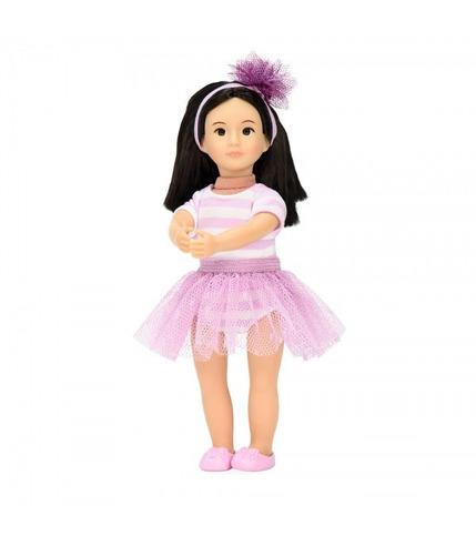 Lori, Lalka ALINN - baletnica, azjatycka uroda, czarne włosy, trykot
