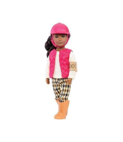 Lori, Lalka SERAYA - dżokejka, ciemnoskóra w różowej kamizelce