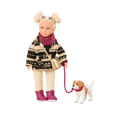 Lori, Lalka DAKOTA - blondynka z psem rasy Jack Russel Terrier