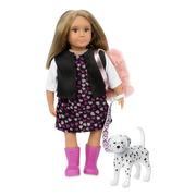 Lori, Lalka GIA - ciemny blond z psem Dalmatyńczykiem