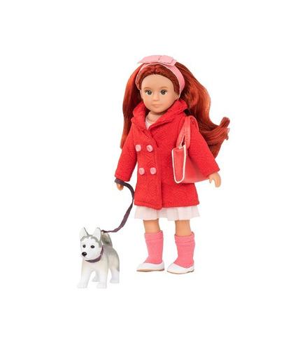Lori, Lalka BRYN - rudowłosa z psem rasy Husky
