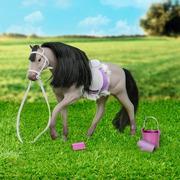 Lori, Szary koń andaluzyjski  z akcesoriami do pielęgnacji