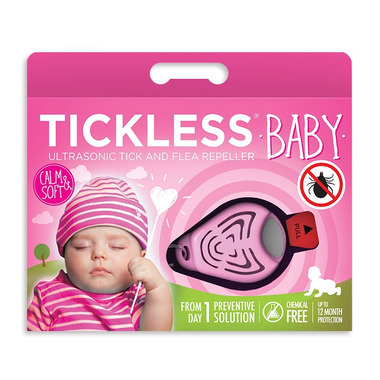 Tickless Baby - urządzenie odstraszające kleszcze dla dzieci różowy