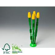 Milaniwood, domino tulips - clorophyll dominoes