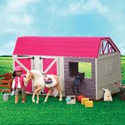 Lori, ZAGRODA dla koni - z akcesoriami do kreatywnej zabawy  i pielęgnacji koni