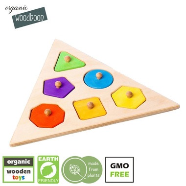 Organic Woodboon, SHAPES TRIANGLE Puzzle Układanka Edukacyjna