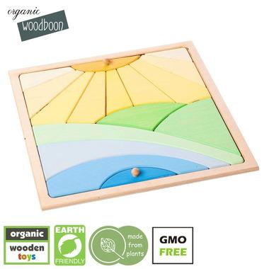 Organic Woodboon, SUNNY DAY Puzzle Układanka Edukacyjna