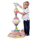 Organic Woodboon, RAINBOW Wielka Tęczowa Wieża Układanka Edukacyjna