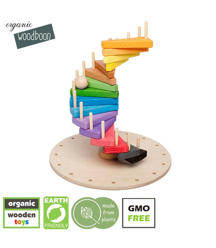 Organic Woodboon, Wieża Paleta Barw Puzzle Układanka Edukacyjna