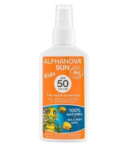 Alphanova Sun, KIDS, Bio Spray Przeciwsłoneczny, filtr 50