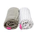 Motherhood, Otulacze muślinowe bawełniane 85x110 cm 2 szt. Pre-Washed Classics - Beżowy
