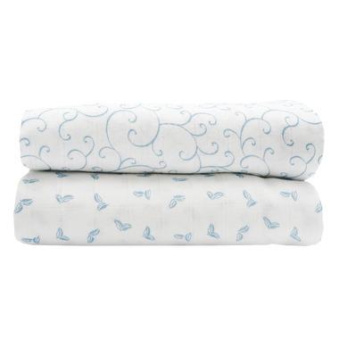 Motherhood, Otulacze muślinowe bawełniane Premium 100x120 cm Niebieski - Classics