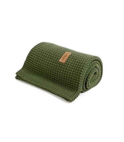 Poofi, Kocyk tkany  Organic & Color zielony