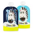 Zebra & Me, ASTRO - 2 PACK Saszetki do karmienia wielorazowe