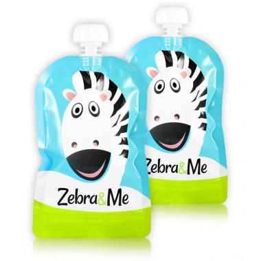 Zebra & Me, ZEBRA - 2 PACK Saszetki do karmienia wielorazowe