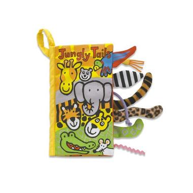 Jellycat, książeczka Safari z ogonkami 11x21cm
