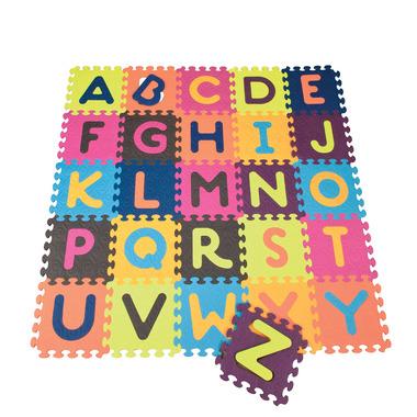 B Toys, Mata piankowa z 26 kolorowymi puzlami ALFABET