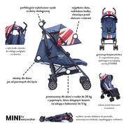 Easywalker, Wózek spacerowy z osłonką przeciwdeszczową 6,5kg Union Jack Vintage