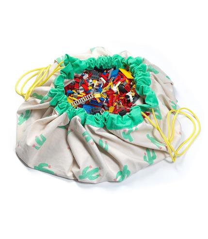 Worek na klocki i zabawki Kaktus