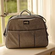 Bizzi Growin, Pod Grey Linen - wielofunkcyjna torba łóżeczko turystyczne dla Niemowląt