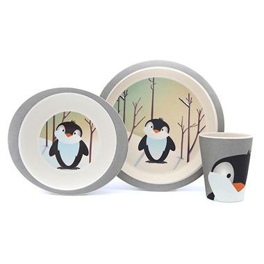 Pure Kids, Zestaw Bambusowy Pingwinek