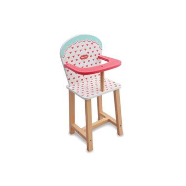 Indigo Jamm, Drewniane krzesełko do karmienia lalek serduszka
