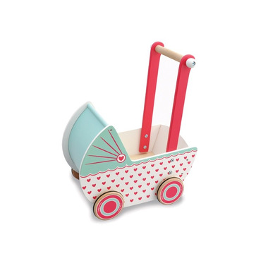 Indigo Jamm, Drewniany wózek dla lalek serduszka