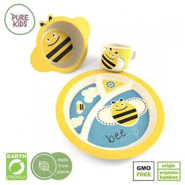 Pure Kids, Zestaw Bambusowy Pszczółka