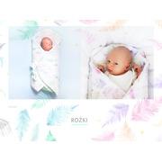 Lullalove, Rożek / mata niemowlęca paprocie róż