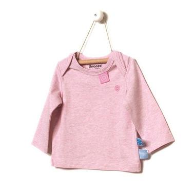 SnoozeBaby, Koszulka z długim rękawem Różowy melanż rozmiar 68