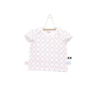 SnoozeBaby, Koszulka z krótkim rękawem Różowe Stempelki rozmiar 68