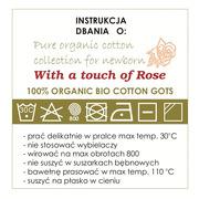 With a touch of Rose, Śpiworek organiczny z krótkim rękawem navy