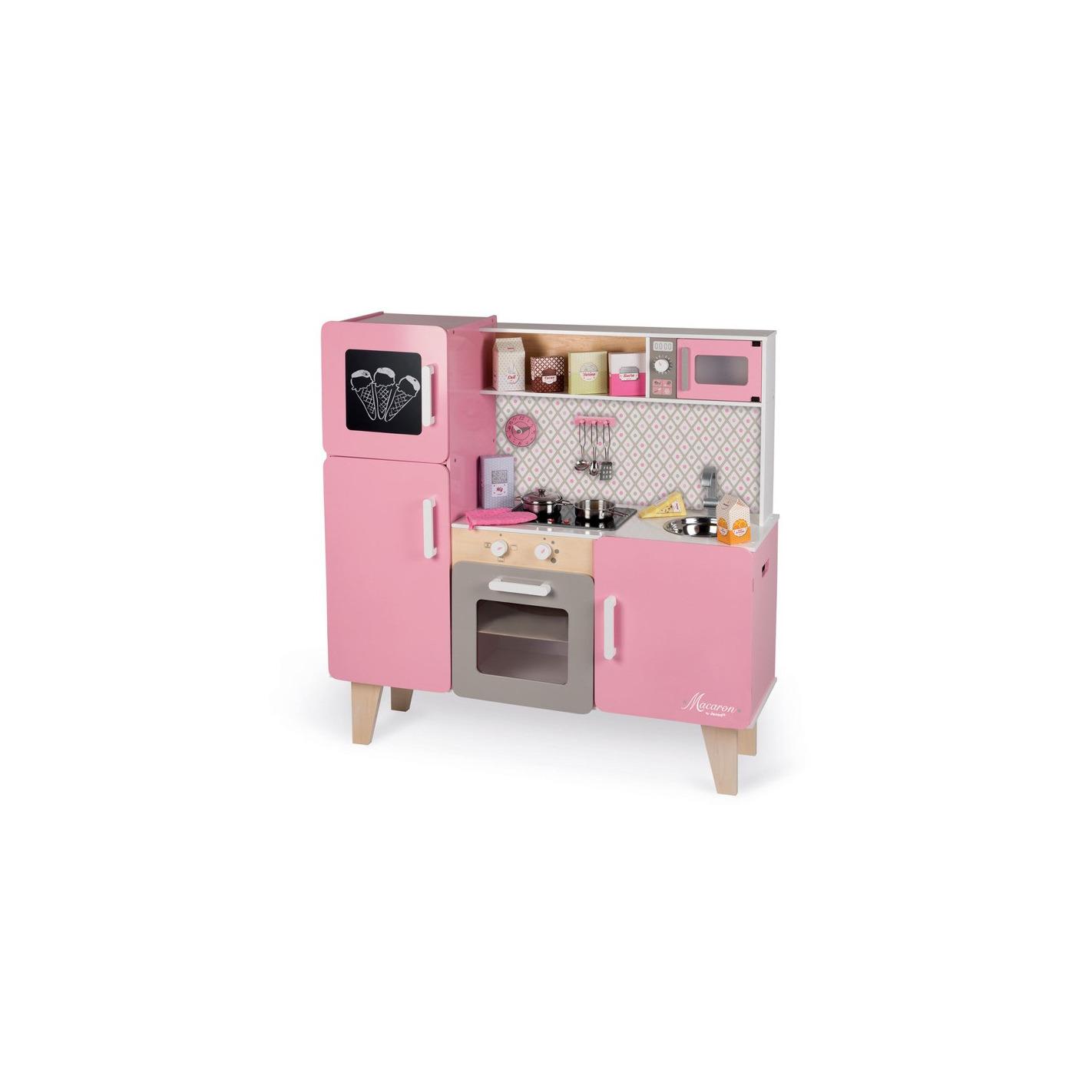 janod kuchnia drewniana xl z d wi kiem i 15 akcesoriami macaron. Black Bedroom Furniture Sets. Home Design Ideas
