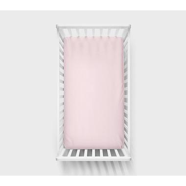 Lullalove, Bawełniane prześcieradło 120x60 cm Różowe