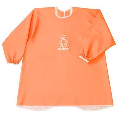 BABYBJORN, fartuszek z długim rękawem Pomarańczowy