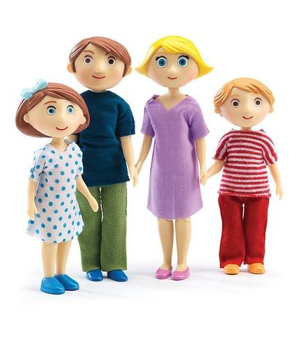 Djeco,Figurki - rodzina Gasparda & Romy