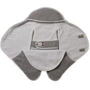 Red Castle, otulacz rożek Babynomade 6-12m Double Fleece Light grey/ White