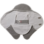 Red castle, Otulacz rożek Babynomade 0-6m Double Fleece Light grey/ White