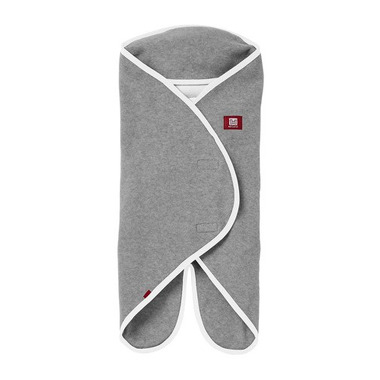 Red castle, Otulacz rożek Babynomade 0-6m Double Fleece Light grey/ White