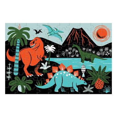 Mudpuppy, Puzzle świecące w ciemności Dinozaury 100 elementów