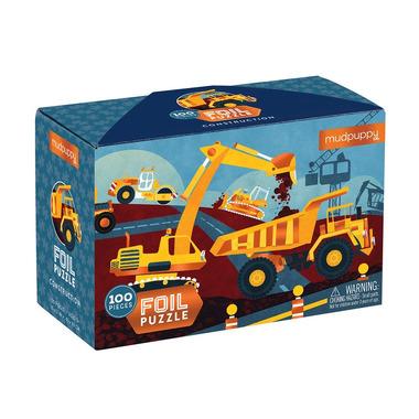 Mudpuppy, Puzzle z błyszczącą folią Budowa 100 elementów