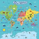 Mudpuppy, Puzzle podłogowe Jumbo Nasz Świat 25 elementów