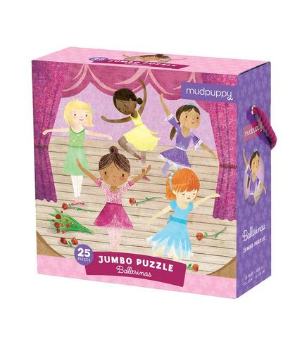 Mudpuppy, Puzzle podłogowe Jumbo Baletnice 25 elementów