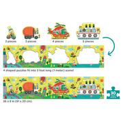 Mudpuppy, Metrowe puzzle Transport 30 elementów