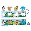 Mudpuppy, Metrowe puzzle Zwierzęta Świata 30 elementów
