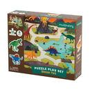 Mudpuppy, Puzzle zestaw z 8 figurkami Dinozaury