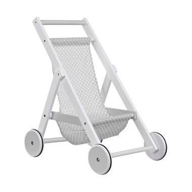 Kids Concept, Drewniany Wózek dla Lalek Szary