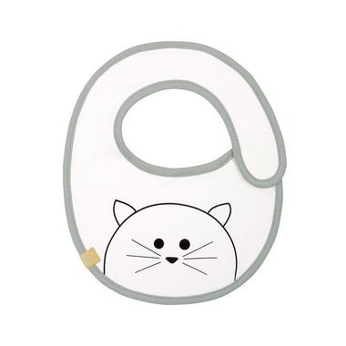 Lassig, Śliniak bawełniany wodoodporny 0m+ Little Chums Kot