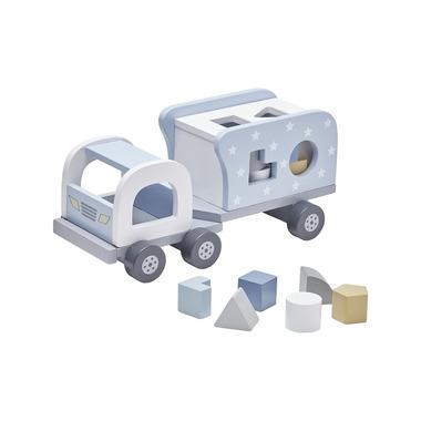 Kids Concept, Klocki Drewniane Samochód Blue